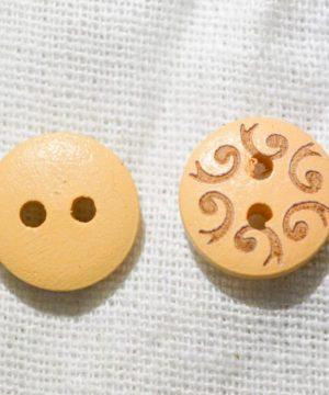 Boutons en bois à motifs