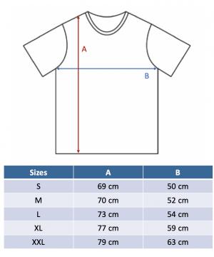 guide des tailles t-shirt