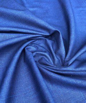 Khadi 100% coton teint en végétal Dark Blue