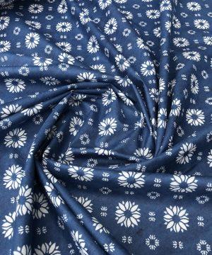 Batiste sérigraphie woad blue