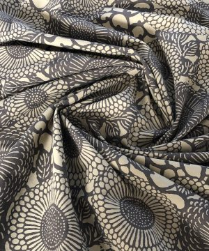 Batiste teinture végétale et sérigraphie Kassam Olive