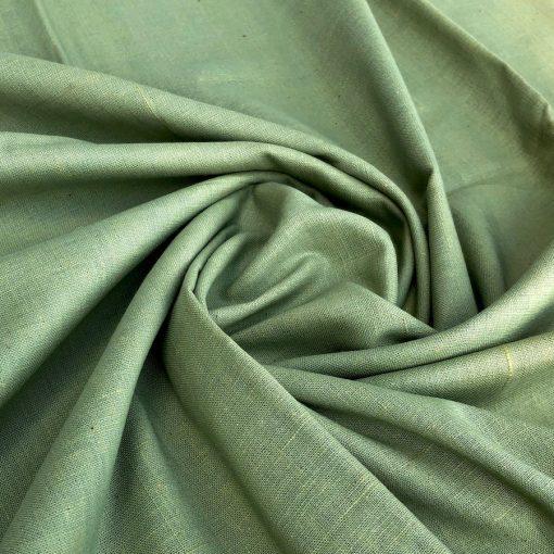 Khadi en teinture végétale couleur naturelle Light Green