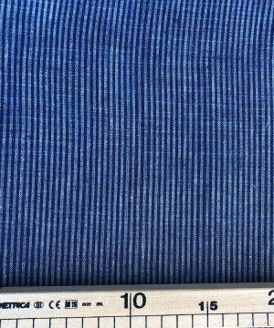 Khadi tissé teint rayures bleues et blanches