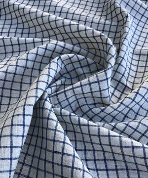Khadi tissés teint carreaux bleus