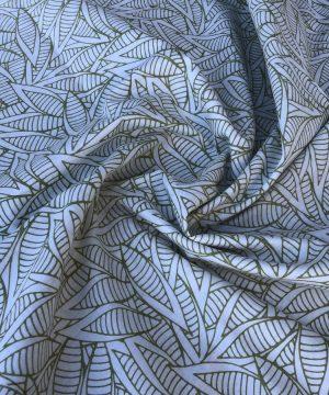 Batiste imprimés feuilles de la jungle