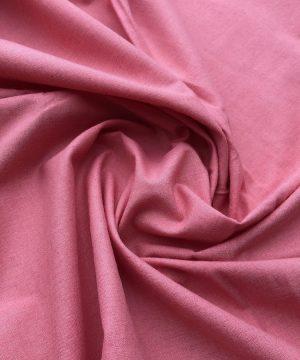 Popeline de coton bio teinte en végétal Cherry Pink